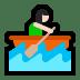 🚣🏻♀️ woman rowing boat: light skin tone Emoji on Windows Platform