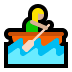 🚣🏼‍♀️ woman rowing boat: medium-light skin tone Emoji on Windows Platform