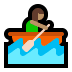 🚣🏽‍♀️ woman rowing boat: medium skin tone Emoji on Windows Platform