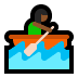 🚣🏾‍♀️ Medium Dark Skin Tone Woman Rowing Boat Emoji on Windows Platform