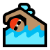 🏊🏽‍♂️ man swimming: medium skin tone Emoji on Windows Platform