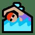 🏊🏼♀️ woman swimming: medium-light skin tone Emoji on Windows Platform