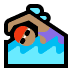 🏊🏽‍♀️ woman swimming: medium skin tone Emoji on Windows Platform