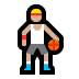 ⛹🏼 person bouncing ball: medium-light skin tone Emoji on Windows Platform