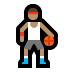 ⛹🏽 person bouncing ball: medium skin tone Emoji on Windows Platform