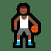 ⛹🏾 person bouncing ball: medium-dark skin tone Emoji on Windows Platform