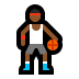 ⛹🏾‍♂️ man bouncing ball: medium-dark skin tone Emoji on Windows Platform