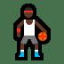 ⛹🏿♂️ man bouncing ball: dark skin tone Emoji on Windows Platform