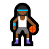 ⛹🏾‍♀️ woman bouncing ball: medium-dark skin tone Emoji on Windows Platform