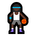 ⛹🏿‍♀️ Dark Skin Tone Woman Bouncing Ball Emoji on Windows Platform