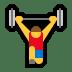 🏋️ person lifting weights Emoji on Windows Platform