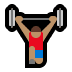 🏋🏽 person lifting weights: medium skin tone Emoji on Windows Platform