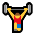 🏋️‍♂️ man lifting weights Emoji on Windows Platform