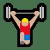 🏋🏼♂️ man lifting weights: medium-light skin tone Emoji on Windows Platform