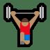 🏋🏽♂️ man lifting weights: medium skin tone Emoji on Windows Platform