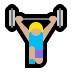 🏋🏼‍♀️ woman lifting weights: medium-light skin tone Emoji on Windows Platform