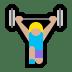 🏋🏼♀️ woman lifting weights: medium-light skin tone Emoji on Windows Platform