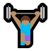 🏋🏽‍♀️ woman lifting weights: medium skin tone Emoji on Windows Platform