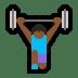 🏋🏾♀️ woman lifting weights: medium-dark skin tone Emoji on Windows Platform