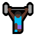 🏋🏿‍♀️ Dark Skin Tone Woman Lifting Weights Emoji on Windows Platform