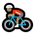 🚴🏽 person biking: medium skin tone Emoji on Windows Platform
