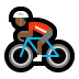 🚴🏾 person biking: medium-dark skin tone Emoji on Windows Platform