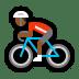 🚴🏾♂️ man biking: medium-dark skin tone Emoji on Windows Platform