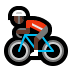 🚴🏿♂️ man biking: dark skin tone Emoji on Windows Platform