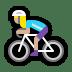 🚴🏼♀️ woman biking: medium-light skin tone Emoji on Windows Platform