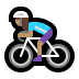 🚴🏽‍♀️ woman biking: medium skin tone Emoji on Windows Platform