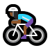 🚴🏾‍♀️ woman biking: medium-dark skin tone Emoji on Windows Platform