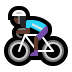 🚴🏿‍♀️ woman biking: dark skin tone Emoji on Windows Platform