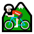 🚵🏻 person mountain biking: light skin tone Emoji on Windows Platform