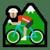🚵🏼 person mountain biking: medium-light skin tone Emoji on Windows Platform