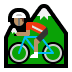 🚵🏽 person mountain biking: medium skin tone Emoji on Windows Platform