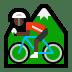 🚵🏿 person mountain biking: dark skin tone Emoji on Windows Platform