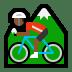 🚵🏾♂️ man mountain biking: medium-dark skin tone Emoji on Windows Platform