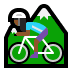 🚵🏾♀️ woman mountain biking: medium-dark skin tone Emoji on Windows Platform
