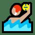 🤽🏼♂️ man playing water polo: medium-light skin tone Emoji on Windows Platform