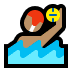 🤽🏽‍♂️ man playing water polo: medium skin tone Emoji on Windows Platform