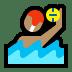 🤽🏽♂️ man playing water polo: medium skin tone Emoji on Windows Platform