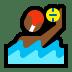 🤽🏾♂️ man playing water polo: medium-dark skin tone Emoji on Windows Platform