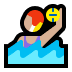 🤽🏼♀️ woman playing water polo: medium-light skin tone Emoji on Windows Platform