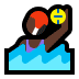 🤽🏿‍♀️ woman playing water polo: dark skin tone Emoji on Windows Platform