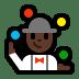 🤹🏿 person juggling: dark skin tone Emoji on Windows Platform