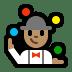 🤹🏽♂️ man juggling: medium skin tone Emoji on Windows Platform