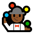🤹🏾♂️ man juggling: medium-dark skin tone Emoji on Windows Platform
