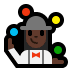 🤹🏿‍♀️ woman juggling: dark skin tone Emoji on Windows Platform