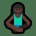 🧘🏿 person in lotus position: dark skin tone Emoji on Windows Platform