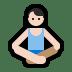 🧘🏻♂️ man in lotus position: light skin tone Emoji on Windows Platform